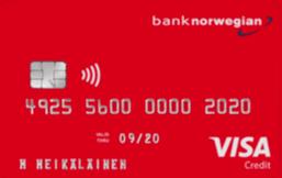 Bank Norwegian Visa logo